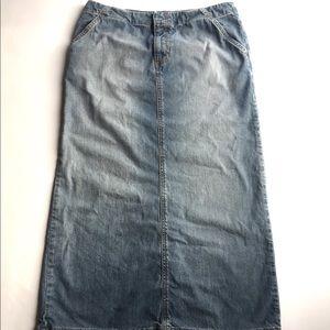 Old Navy Blue Jeans Denim Straight Modest Skirt 8